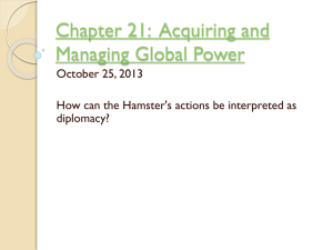 Chapter 21: Acquiring and Managing Global Power