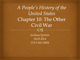 A People*s History of the United States Chapter 10