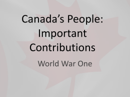 Canada`s People Powerpoint