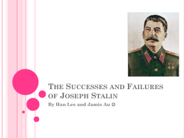 The Success and Failures of Joseph Stalin