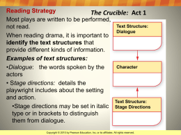 The Crucible Literary Terms PowerPoint