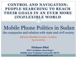 Mobile Phone Politics in Sudan the companies and relation with