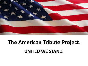 The American Tribute Project