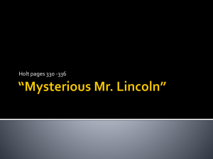 Mysterious Mr. Lincoln
