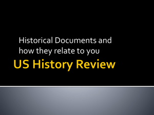 Historic Documents Review PowerPoint