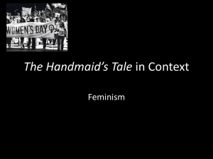 The Handmaid`s Tale in Context – Feminism