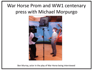 War Horse Prom and WW1