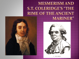 Mesmerism and Coleridge*s The Rime of the