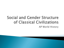 Social and Gender Structure of Classical