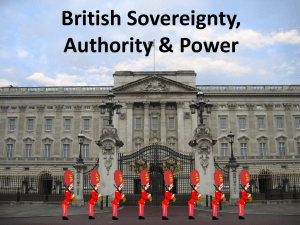British Sovereignty, Authority & Power