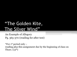 The Golden Kite, The Silver Wind