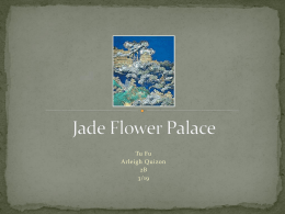 Jade Flower Palace Tu Fu - Arleigh Quizon