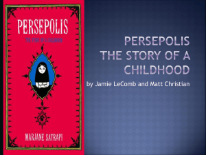 Persepolis The Story of a Childhood