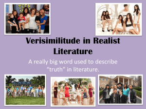 Verisimilitude in Realist Literature