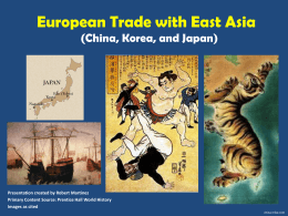 European Trade with East Asia