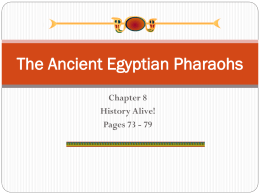 Chapter 8 Anciet Egyptian Pharoahs