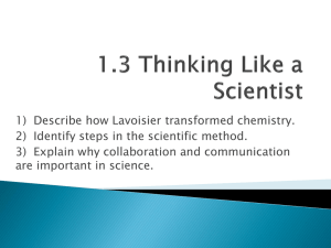 1.3 Thinking Like a Scientist