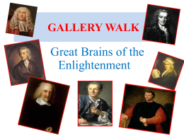 Activity: Great Brains of the Enlightenment