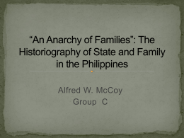*An Anarchy of Families*: The Historiography of