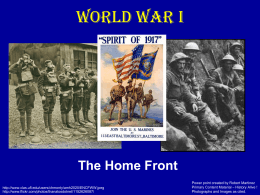 WWI Homefront