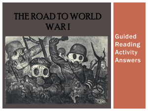 The Road to World War I - pams-byrd