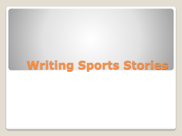 Sports Writing Presentation