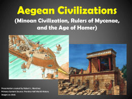 Aegean Civilizations (Minoan Civilization, Rulers