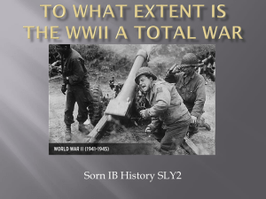 SORN To_what_extent_is_the_WWII_a_total
