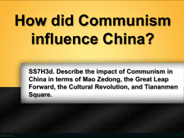 Communism in China - Polk School District