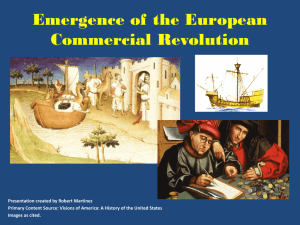 Emergence of the European Commercial Revolution