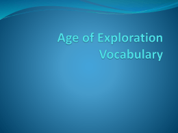 Age of Exploration Vocabulary