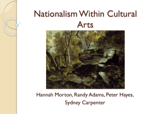 Nationalism Within Cultural Arts