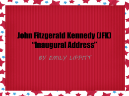 Emily Lippitt JFK SPEECH