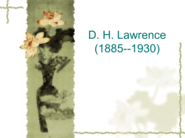 D. H. Lawrence (1885-