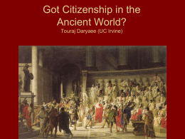 Go Citizenship in the Ancient World?