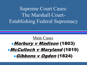 Supreme Court Cases: Establishing Federal Supremacy
