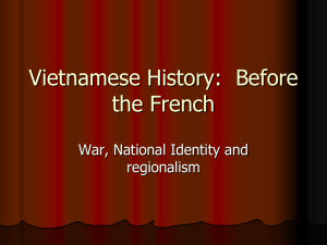 Vietnamese History: Before the French