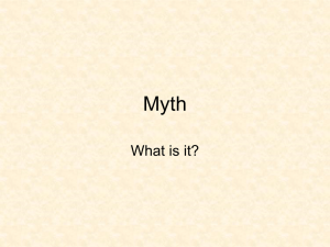 What is myth? - University at Albany