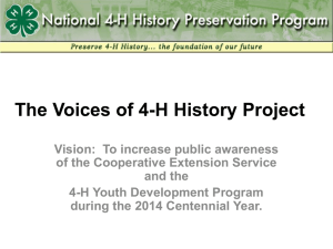 90-Second PPT of Historical 4-H Images Used at NAE4
