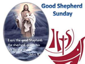 Liturgy Presentation for schools for Good Shepherd Sunday