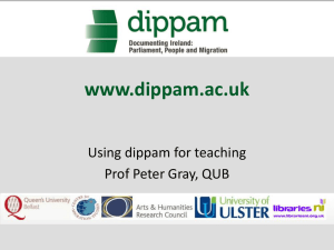 www.dippam.ac.uk - Queen`s University Belfast