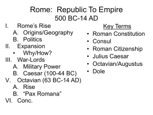 Rome: Republic To Empire 500 BC
