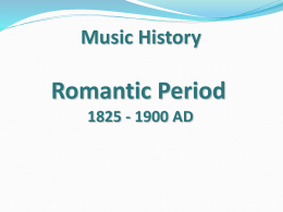 Romantic Period 1825