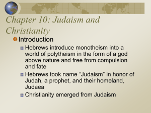 Ch. 10: Judaism and Christianity