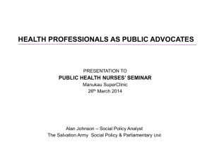 Public Health Nurses Seminar 26 March 2014