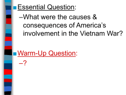 The Vietnam War (PowerPoint)