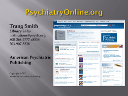 POL Libraries PPT - American Psychiatric Publishing