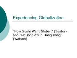 2.24-Global Sushi and McDonald`s in Hong Kong