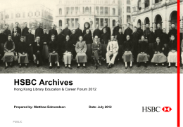 HSBC Archives - Hong Kong Library Association