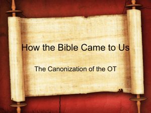 Canon - Berachah Bible Church